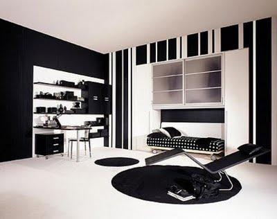 dormitorio juvenil con negro