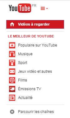 capture d'écran YouTube