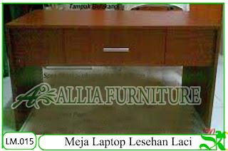 Meja Laptop Lesehan Klender Laci