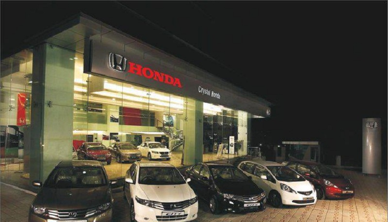 contact list of honda motor car showrooms in jharkhand