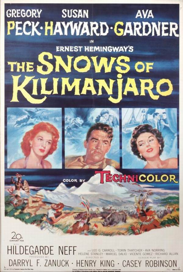 The Valiant 1951 Snows Of Kilimanjaro 1952 Spanish Poster
