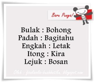 Bahagian 7 : Bahasa Melayu Sarawak