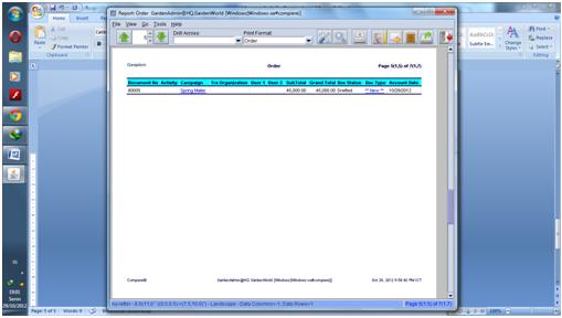 Report Sales order5