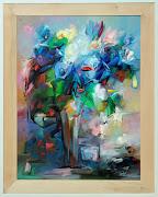 Zdzisław Constantin Majrowski, kwiaty, malarstwo III, 130 x 100 cm