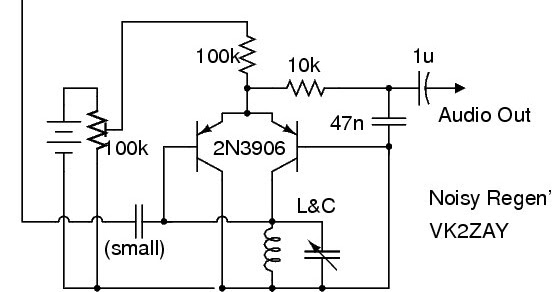 noisy regen receiver circuit diagram