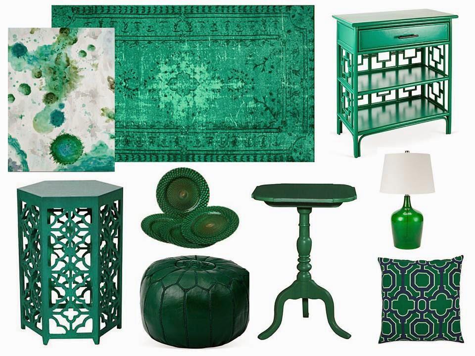 magnolia styles emerald green decor