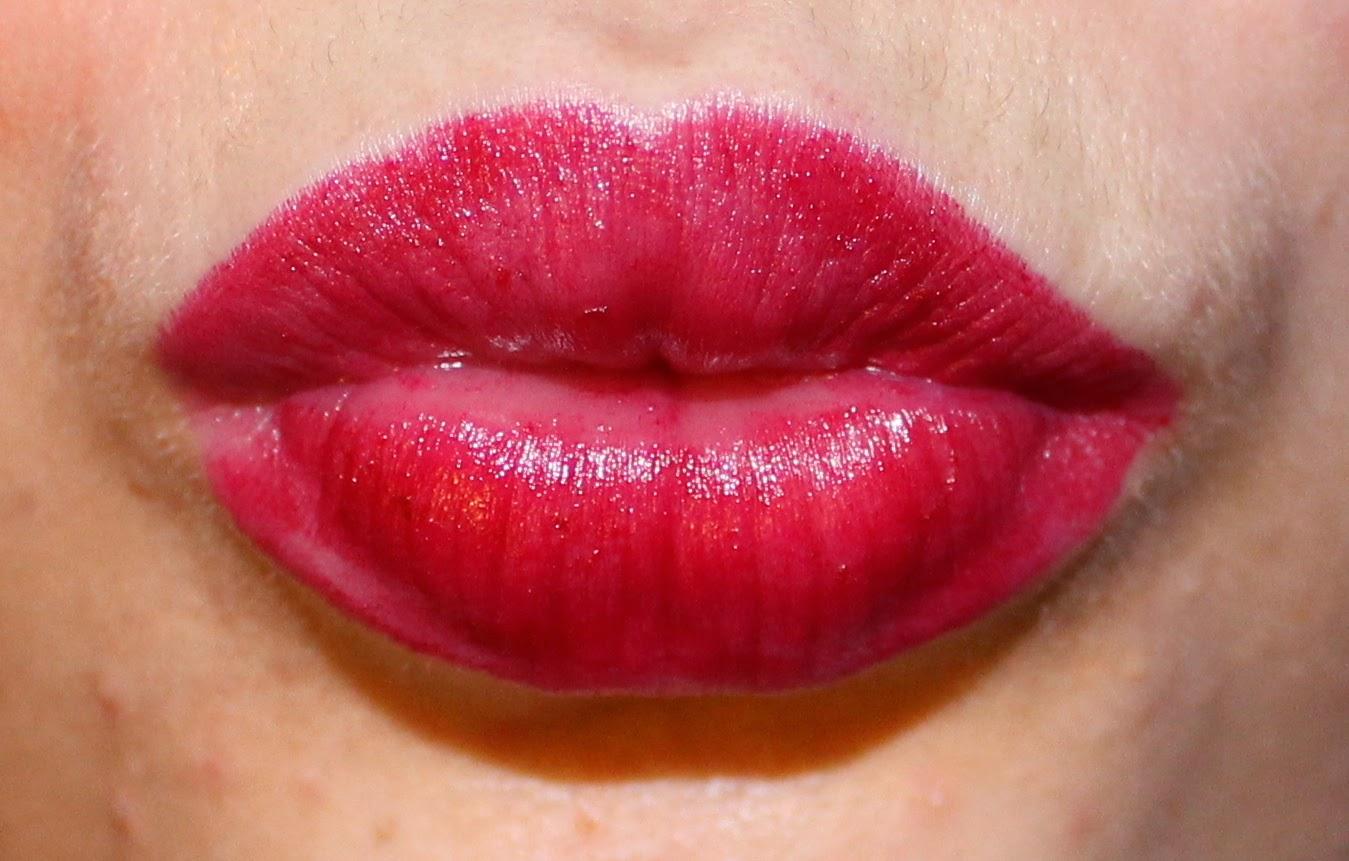 Annabelle TwistUp Retractable Lipstick Crayon in Cherry on Lips