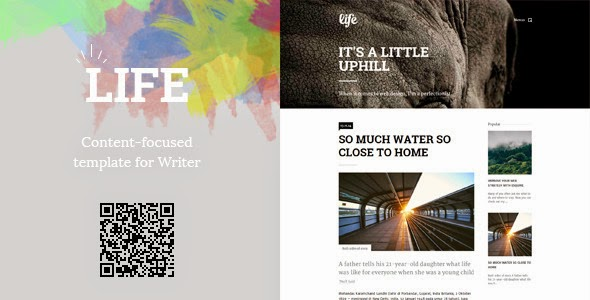 Life: Minimalist Content-Focused Template