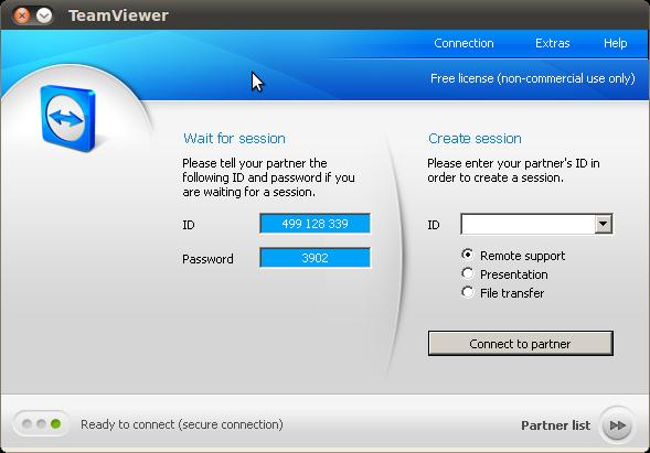 Teamviewer in Ubuntu - creatorb