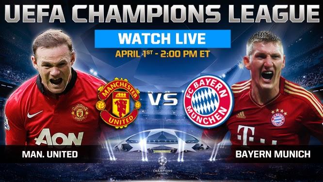 Prediksi Skor Manchester United vs Bayern Munchen 02 April 2014 - Liga Champions