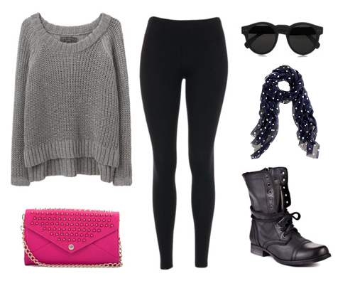 The gallery for --u0026gt; Cute Winter Outfits With Leggings And Combat Boots