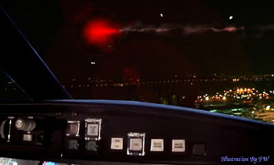 US Airways Express Flight Crew Reported Seeing UFO Over Philadelphia International Airport (Med) 5-22-12