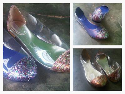 Aneka model sepatu sandal murah,keren dan terbaru,sandal keren model Blue & Gold