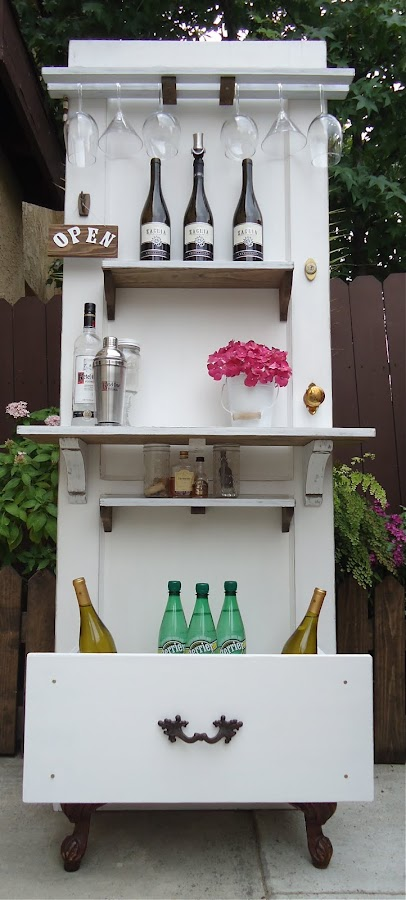 Old Door Up-çycled to Beverage Bar -Available  $275
