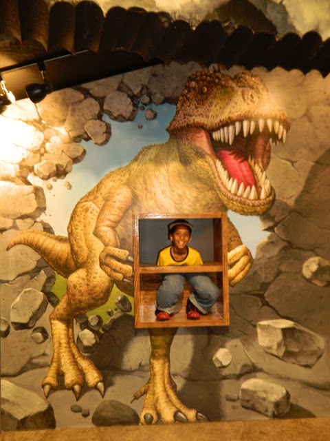 The dino ride at the trompe d'oeil in Seoul