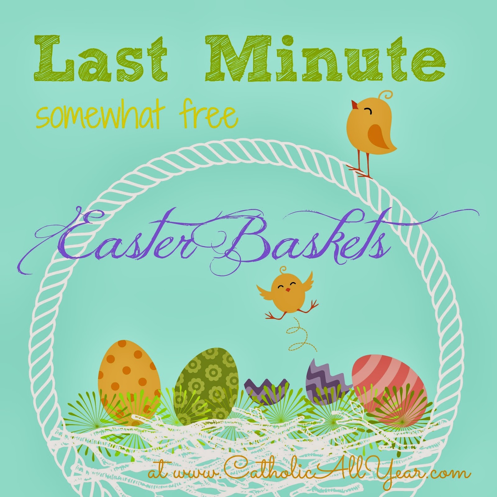 Catholic all year last minute somewhat free easter baskets before you rush out the door to the dollar store to put together an easter basket here are a few ideas for lovely and edifying easter gifts that you can negle Choice Image