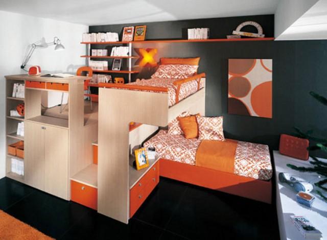dekorasi kamar tidur kecil minimalis modern untuk anak