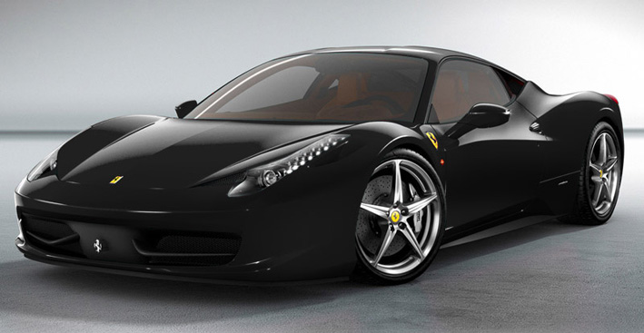 World Of Cars: Ferrari 458 italia wallpaper black - 1
