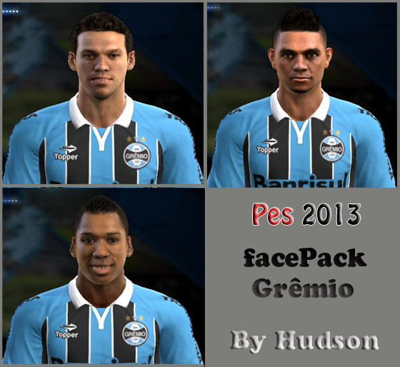 Facepack do Grêmio - PES 2013