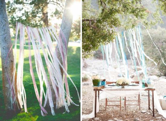wedding backdrops, fabric/lace ribbon, decorazioni matrimonio