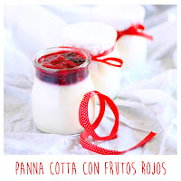 Foto: panna cotta con frutos rojos