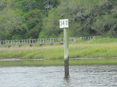 From SC- Norfolk the ICW has mile markers every 5 miles.  Norfolk is mile 0. Miami 1000+ mi. South.