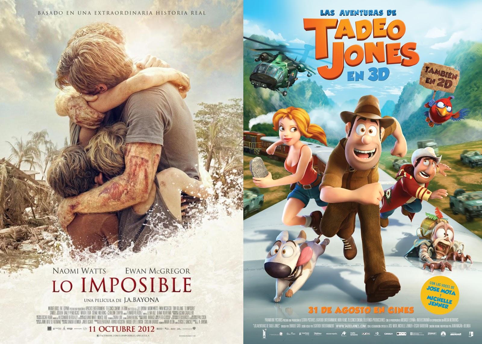 Después del éxito de 'Lo imposible' y 'Las aventuras de Tadeo Jones, Telecinco Cinema planea ya nuevas películas. Making Of. Cine. Películas