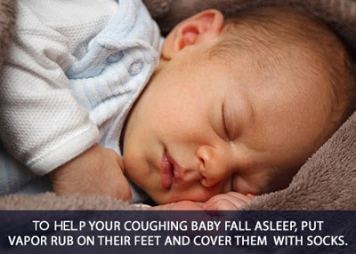 Worried when your baby coughs at night – try this to help sooth him/her.
