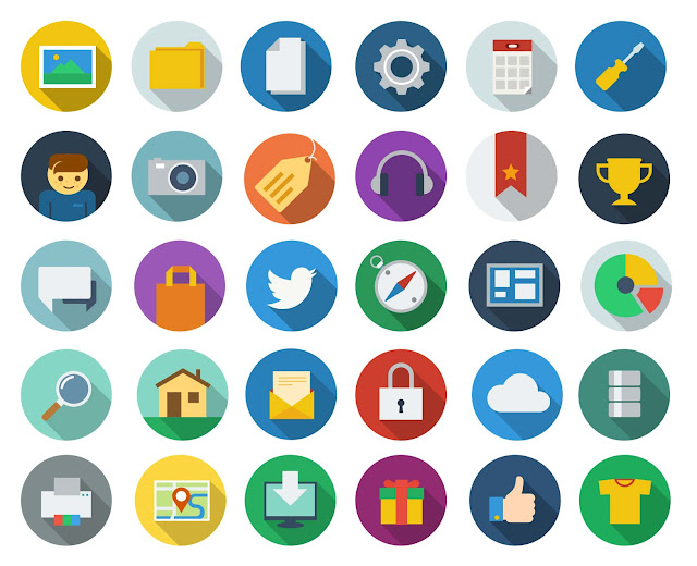 ico 003 10 Amazing Free Download Flat Icons PSD