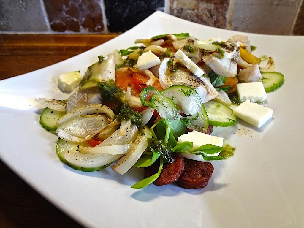 Warm Salad of Pollock & Tomato