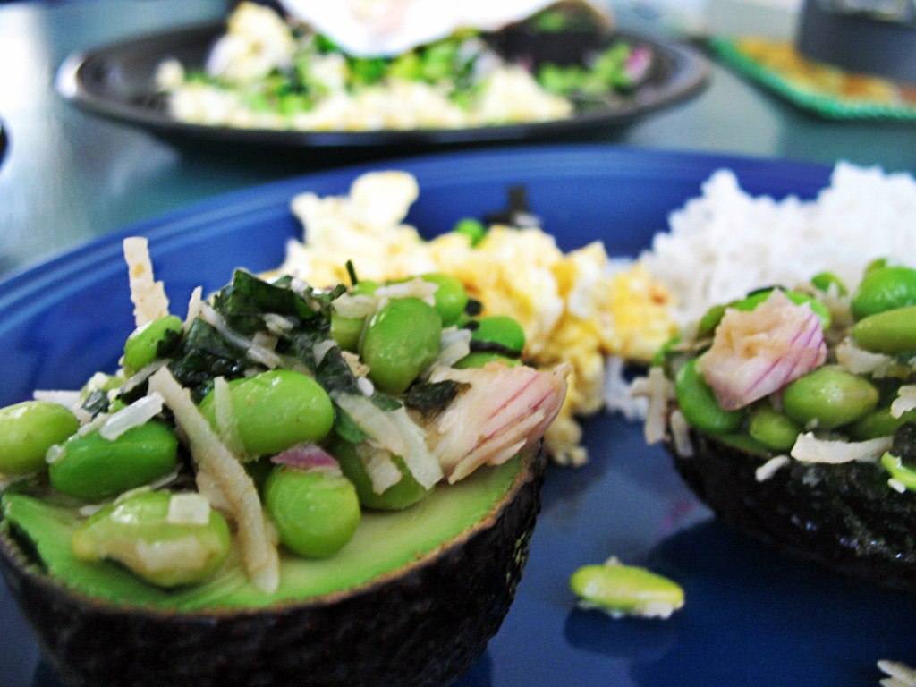 Edamame And Toasted Coconut In Avocado Recipes — Dishmaps