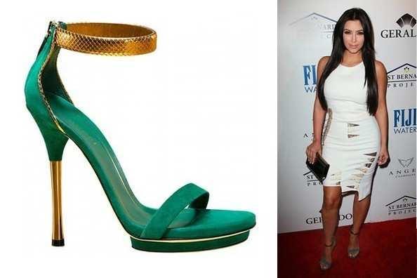 kim kardashian con sandalias Gucci