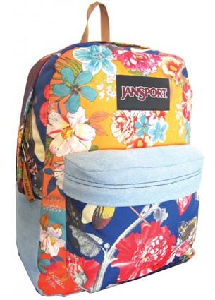 Farm e JanSport mochila estampa floral com detalhes em jeans