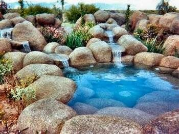 Arte y jardiner a cascadas construcci n de una cascada for Piedras artificiales para jardin