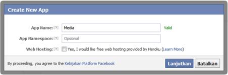 Membuat Aplikasi Facebook