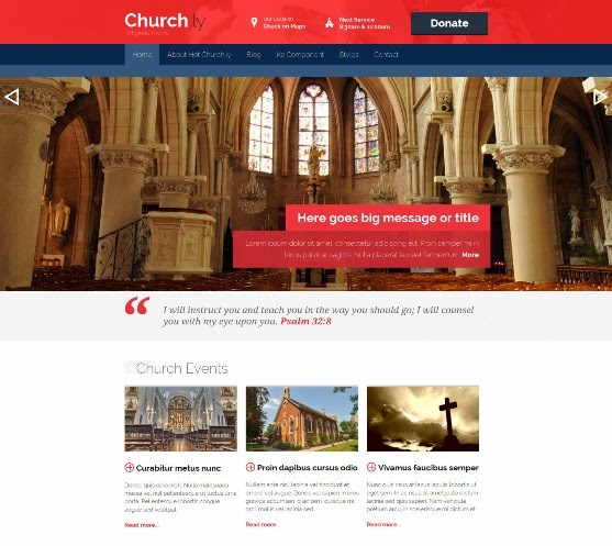 Joomla Church Template - Churchly