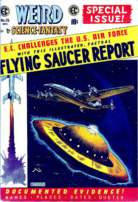Weird Science-Fantasy v1 #26 ec comic book cover art by Al Feldstein