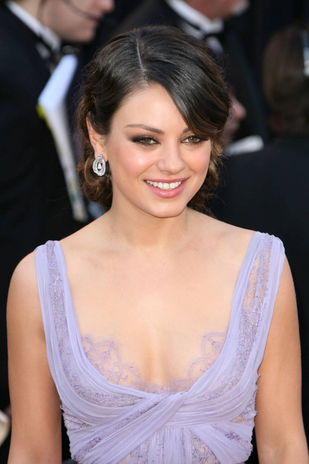 Funny picture clip celebrity mila kunis updo hairstyle celebrity mila kunis updo hairstyle its too bad mila kunis looked so bored on the red carpet because her soft lavender elie saab gown was actually quite pmusecretfo Image collections