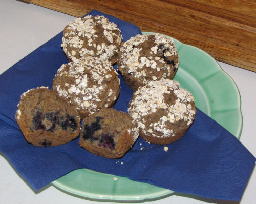 buckwheat butternut squash blueberry muffins