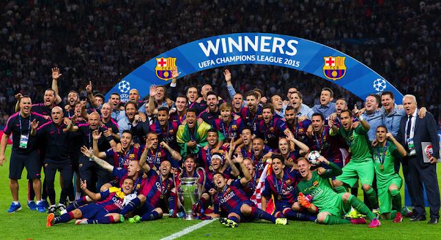 fc barcelona campeones 2015 triplete