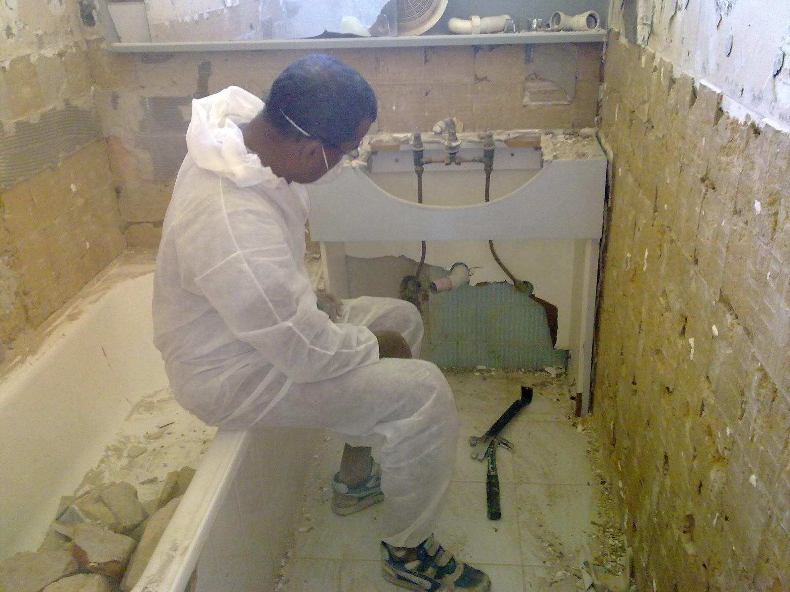 Bathroom Renovation During
