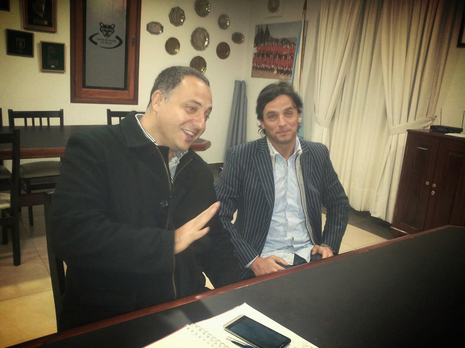 Mimessi junto al secretario de Deporte Sergio Plaza