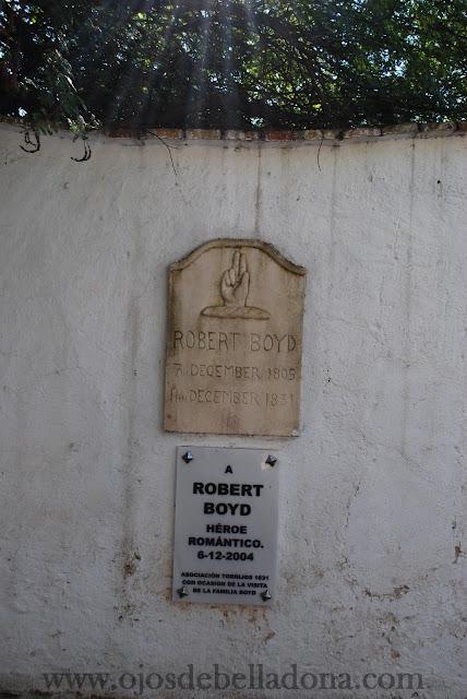 Placa a Robert Boyd Cementerio Inglés de Málaga