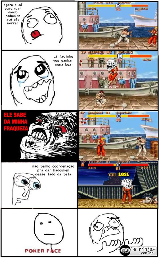 Tirinha - Lado 'errado' da tela no Street Fighter...