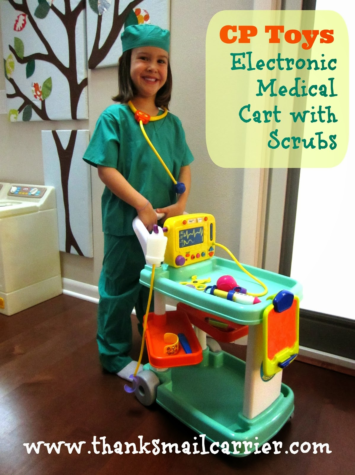 CP Toys Electronic Medical Cart with Scrubs