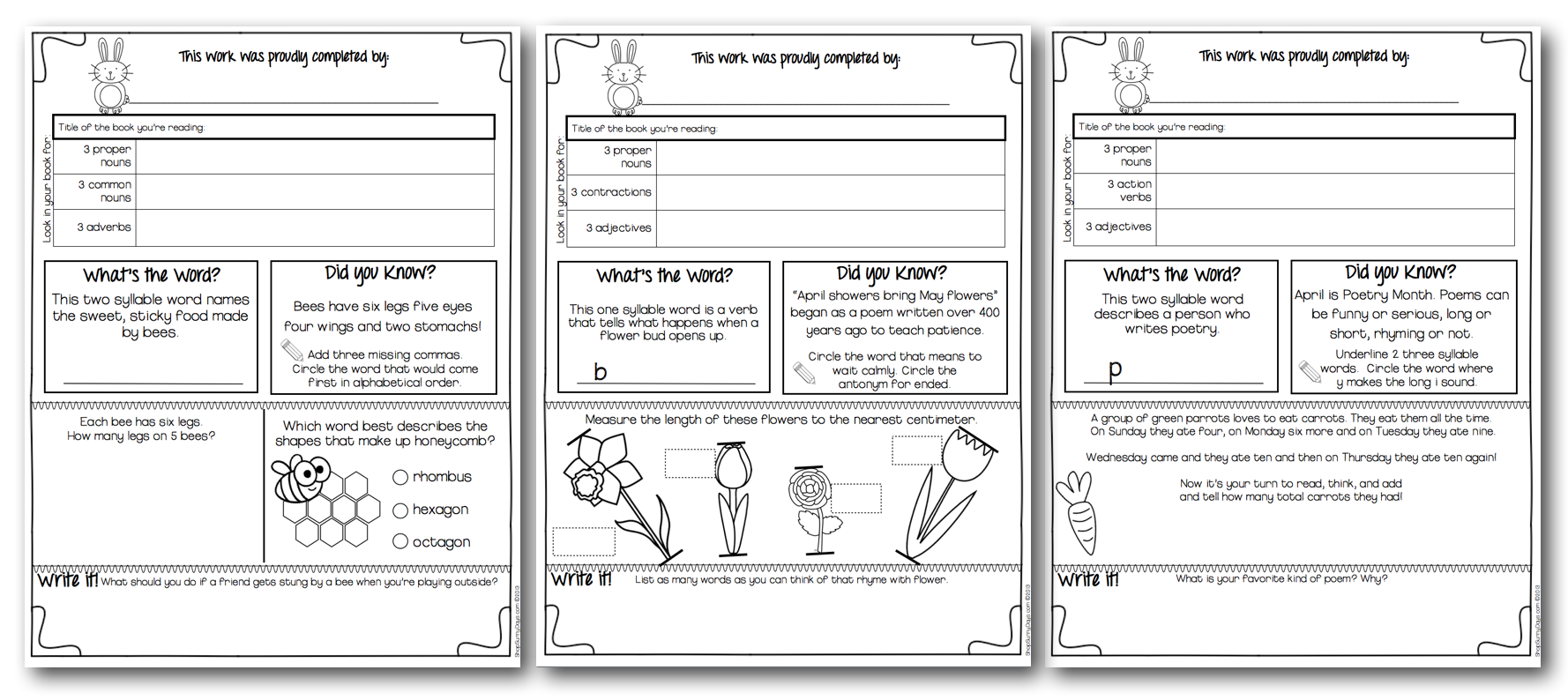 Homework activities for kids