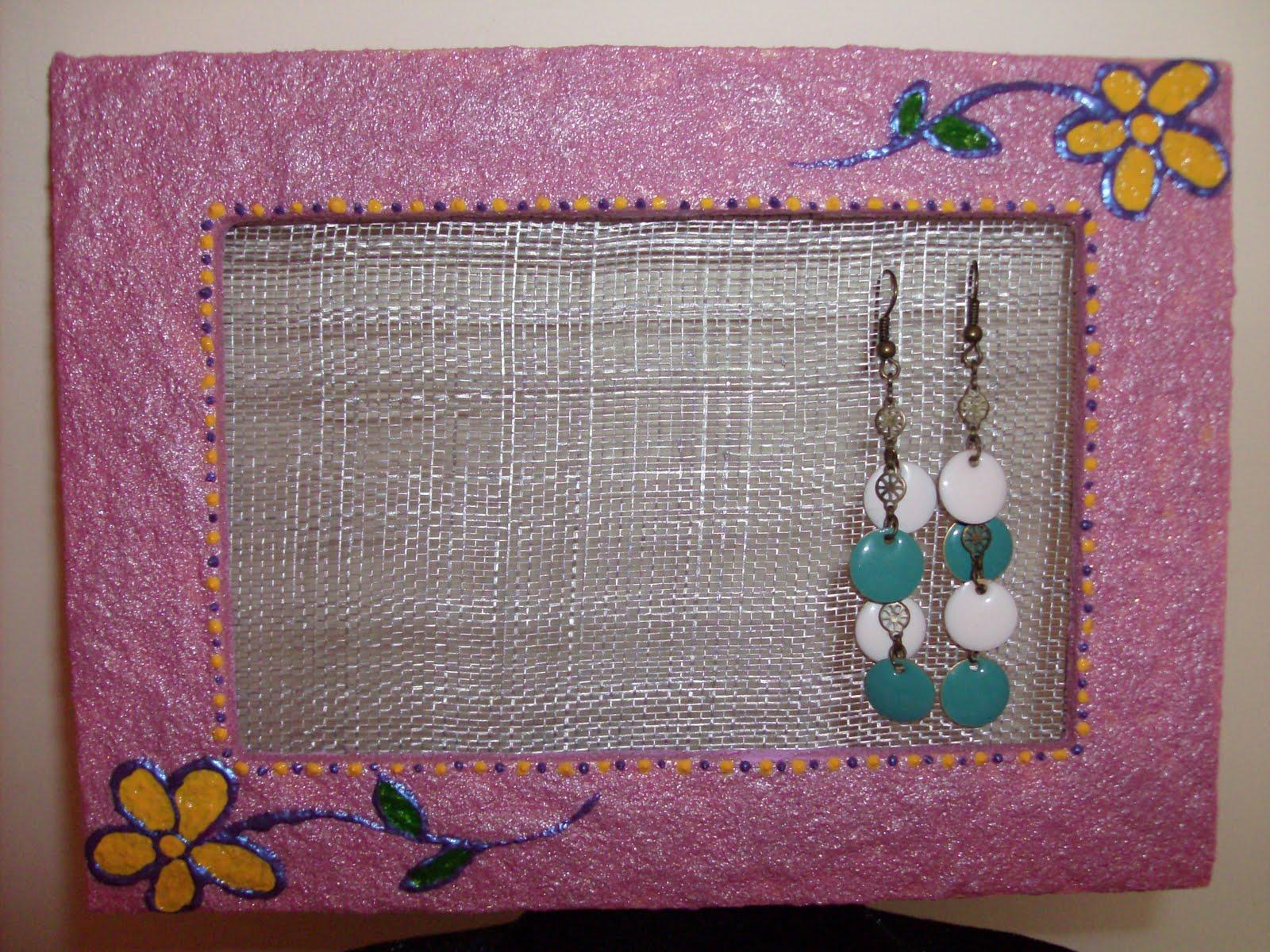 El taller de gretel cuadro peque o para colgar tus pendientes - Para colgar pendientes ...