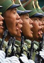 Cina sul piede di guerra