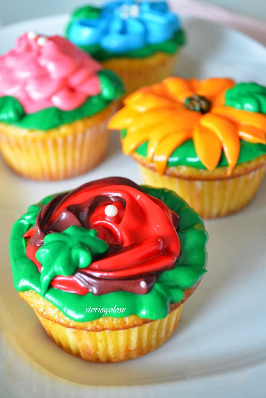 flower cupcakes al limone