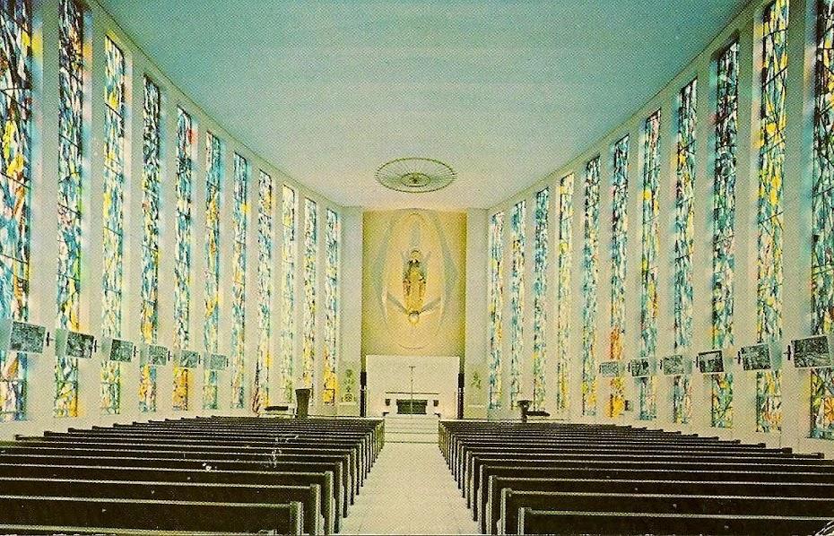 1967- JORDI BONET -  REMARQUEZ BIEN LE CHEMIN DE CROIX DE CHAQUE CÔTÉS-OUR LADY OF THE SKIES N.Y.